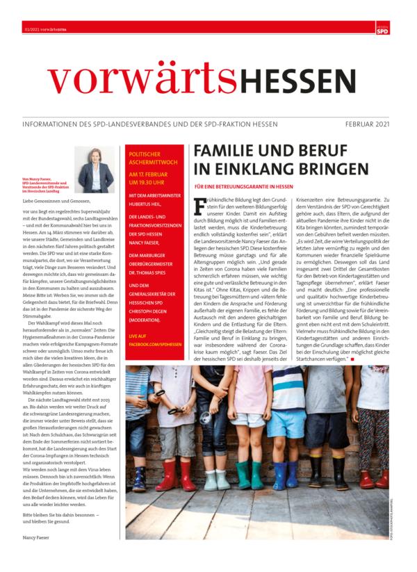 Vorwärts Hessen Ausgabe 01/2021