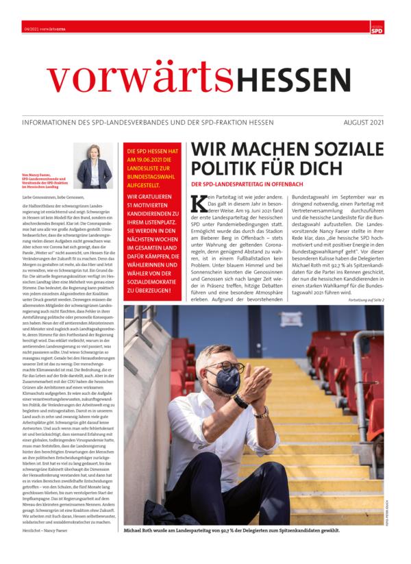 Vorwärts Hessen Ausgabe 04/2021