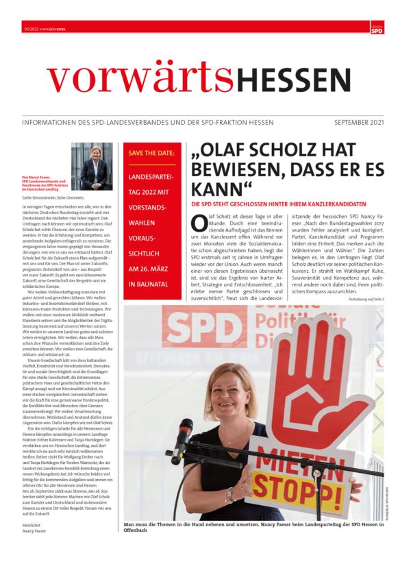 Vorwärts Hessen Ausgabe 05/2021